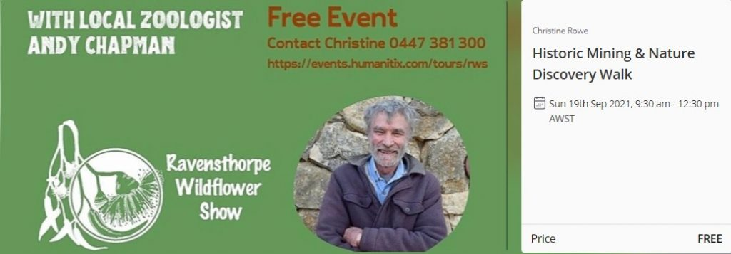 Historic Mining & Nature Walk with Andy Champman Zoologist