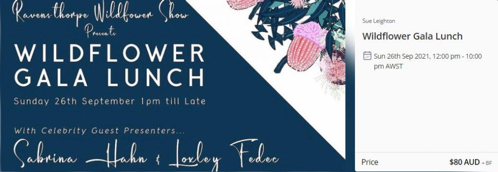 Ravensthorpe Wildflower Show Gala Lunch Closing Event